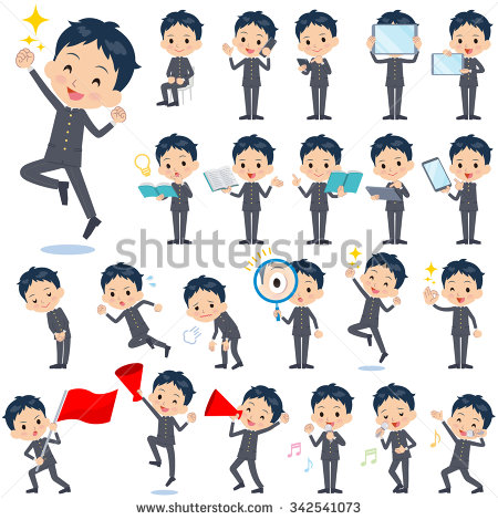 Clipart Boy Different Poses.