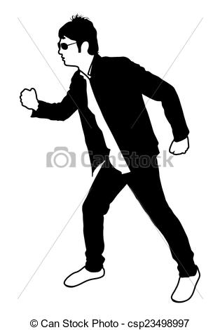 Vector Clipart of Standing Man Pose.