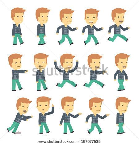 Boy In Different Pose Stock Vectors & Vector Clip Art.