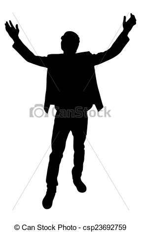 Clipart Vector of Standing Boy Pose.