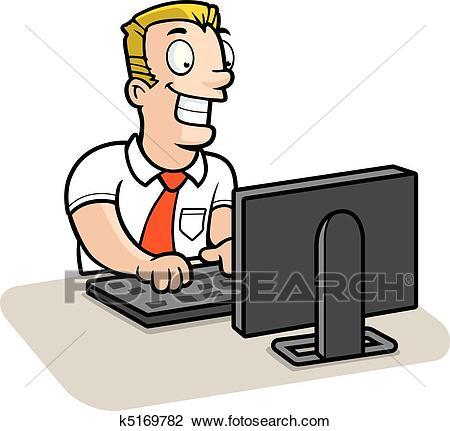 Man Computer Clipart.