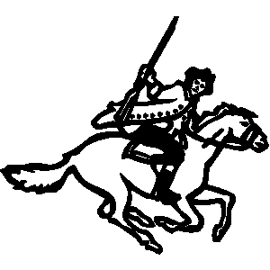 Man on horse clipart.