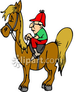 Free clipart man on horse.