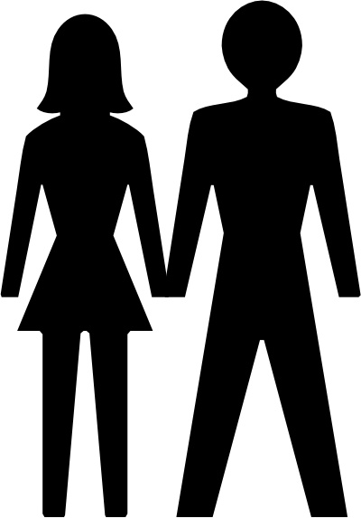 Man And Woman Icon clip art Free vector in Open office drawing svg.