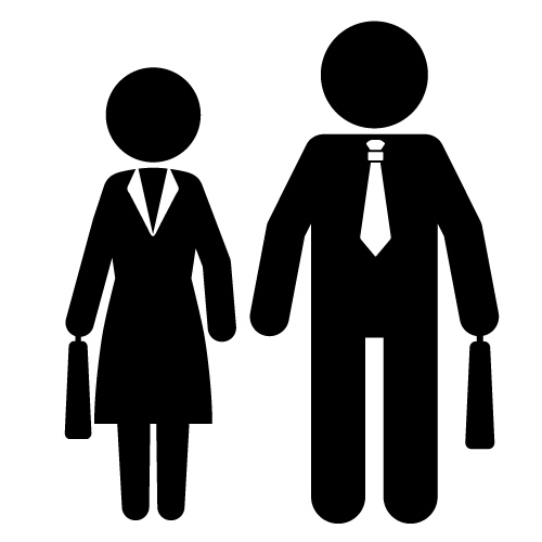 Clipart man and woman.