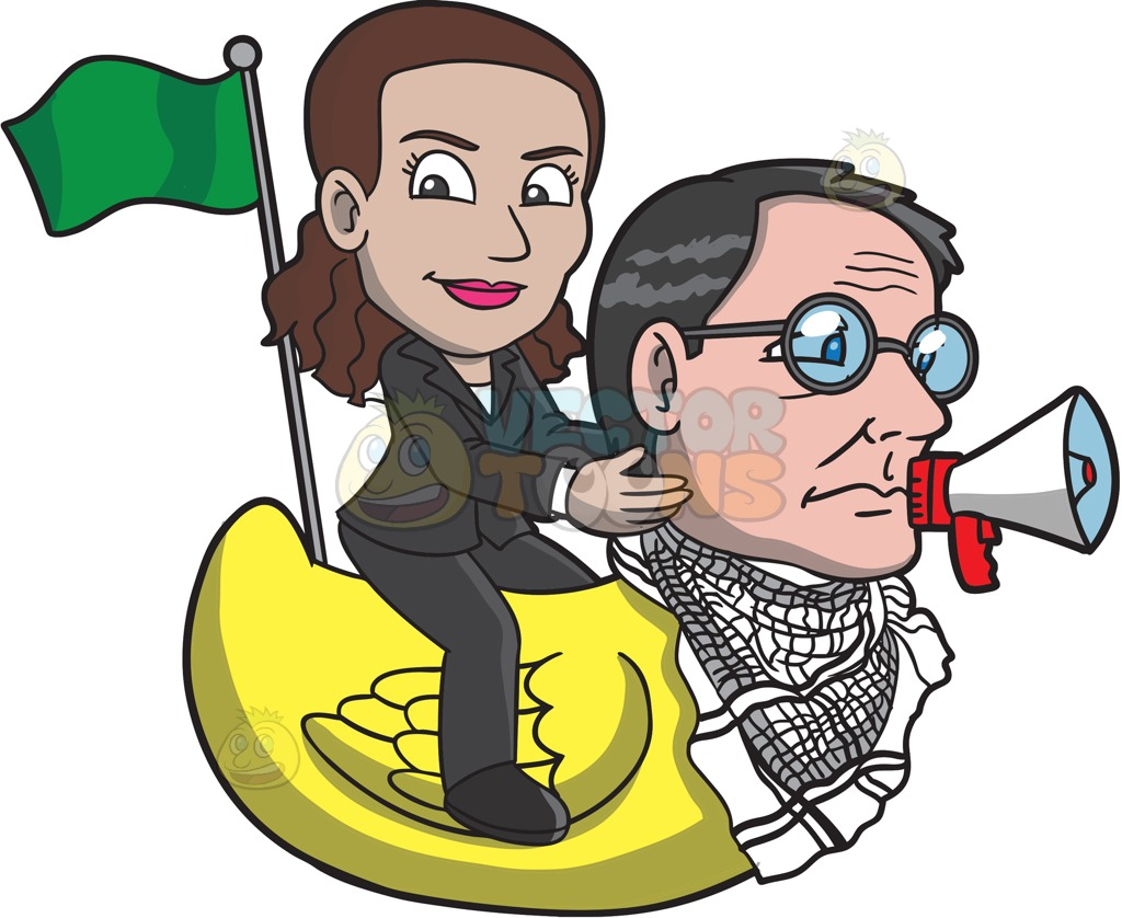 Man And Woman In A Boat Clipart.