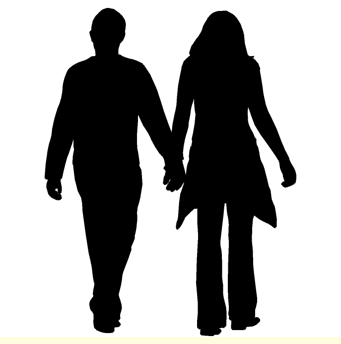 Free Man And Woman Silhouette, Download Free Clip Art, Free.