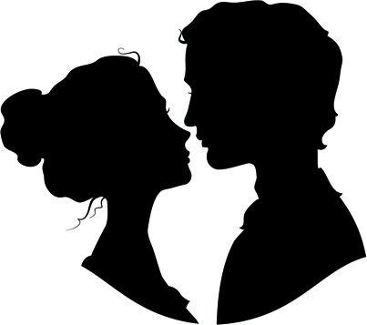 Creative man and woman silhouettes vector set Free vector in.