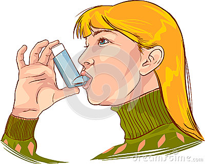 Asthma Patient Clipart.
