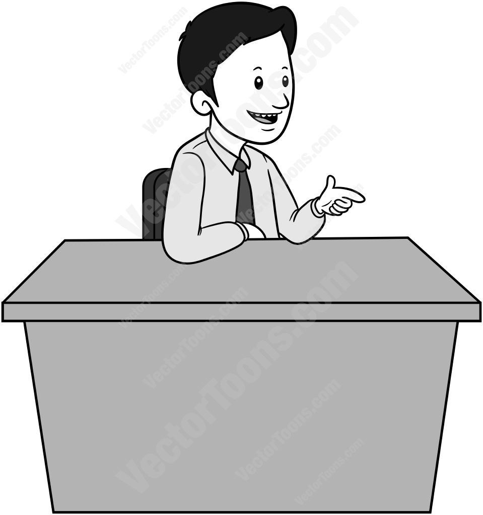 6707 Desk free clipart.