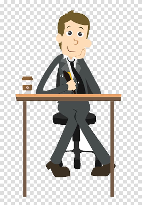 Man writing on desk , Business Man Animation, business man.