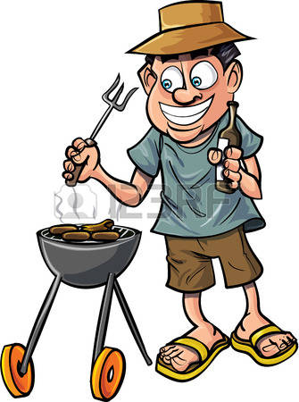 1,051 Man Grilling Stock Illustrations, Cliparts And Royalty Free.
