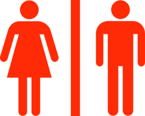 Large Man Woman Bathroom Sign Vector Clip Art at Clker.com.