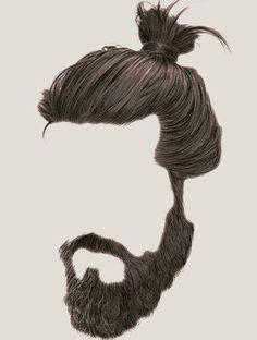 Beard Man Bun Png & Free Beard Man Bun.png Transparent.