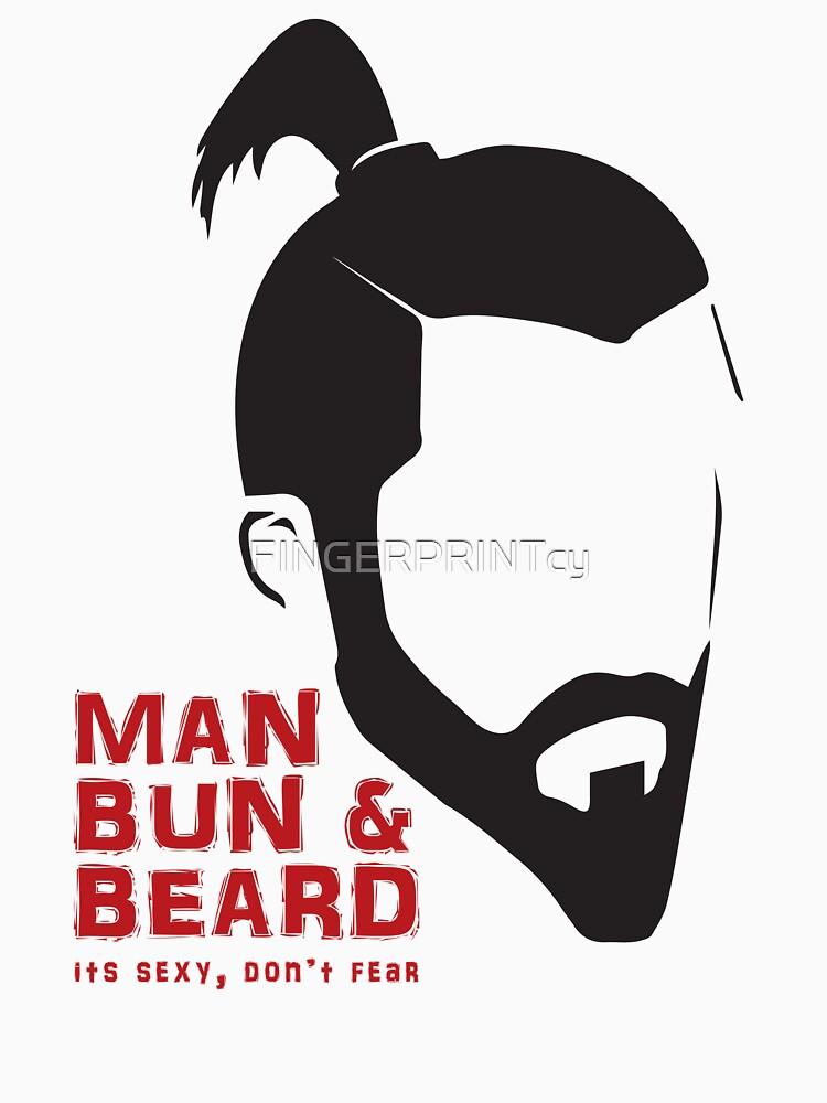 MAN BUN & BEARD.