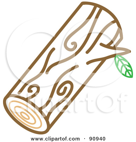 Man carrying logs clipart.