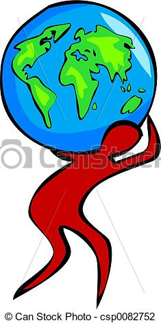 Clip Art of Carry the World.
