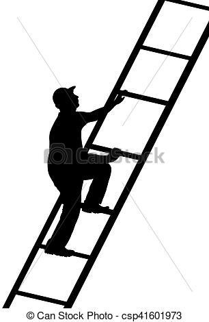 Climbing Ladder Clipart.
