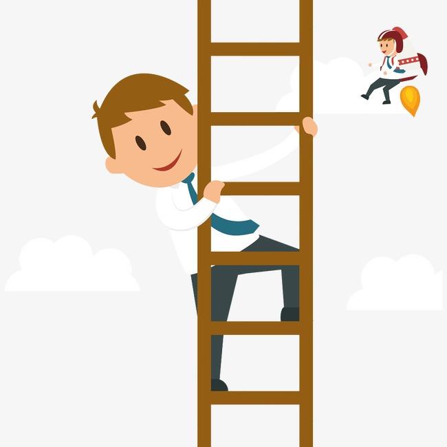 Ladder Climbing Clipart.
