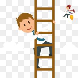 Man Climbing PNG.