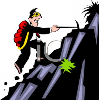 Man Climbing a Mountain Clipart (71+).