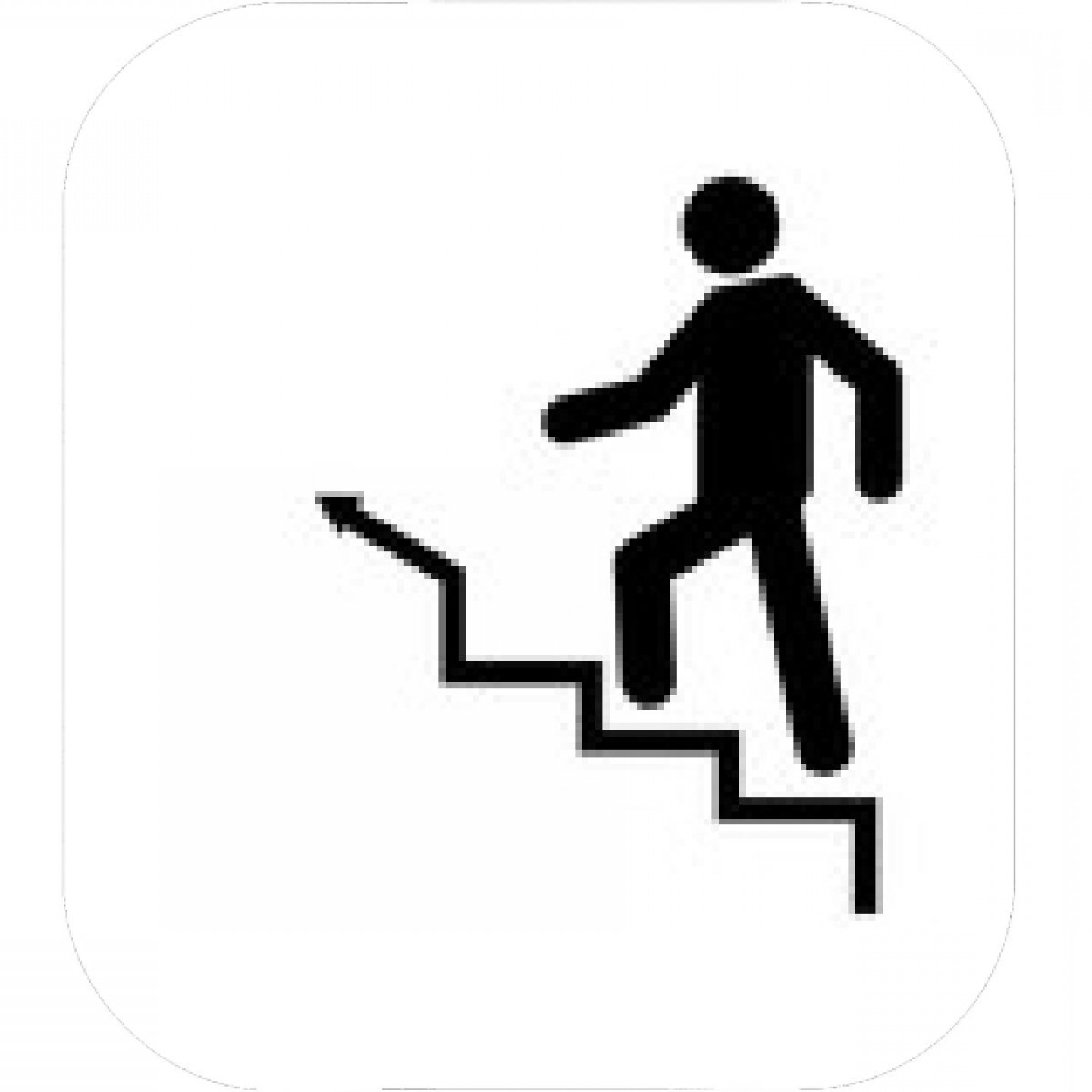 Man Climbing Stairs Vector Icon.