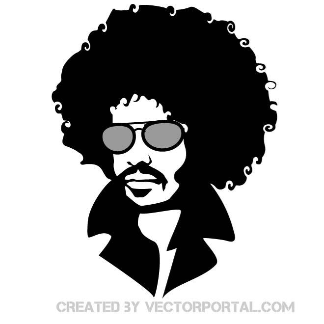 Cool Afro Man Clipart.