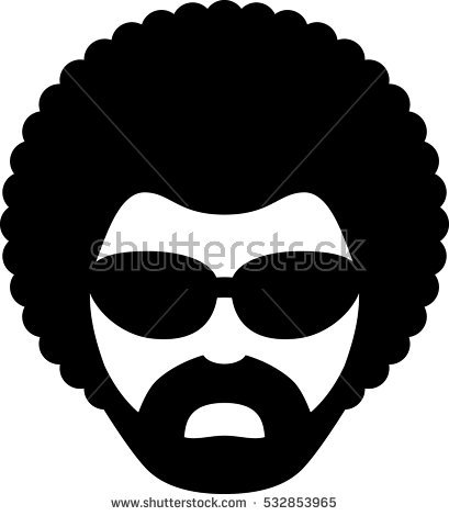 Afro Silhouette Stock Images, Royalty.