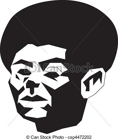 Afro Man Clipart.