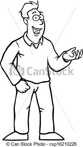 64+ Man Clipart Black And White.