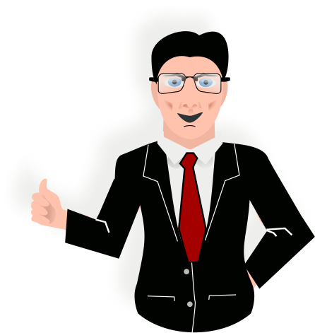 Office man clipart png.