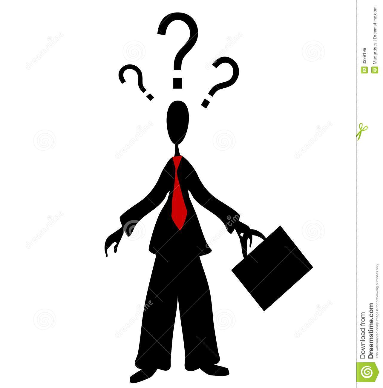 Standing Man Confused Clipart Free.