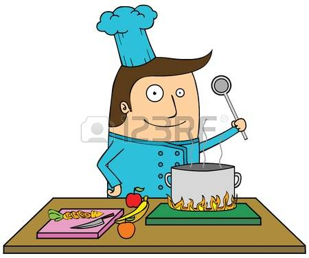 9,690 Man Cooking Stock Vector Illustration And Royalty Free Man.