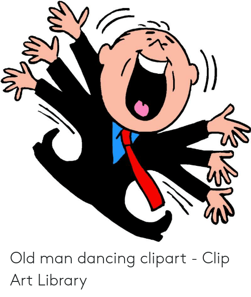 Old Man Dancing Clipart.