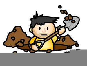 Man Digging A Hole Clipart.