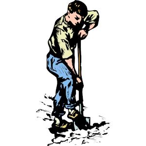 Man Digging clipart, cliparts of Man Digging free download.