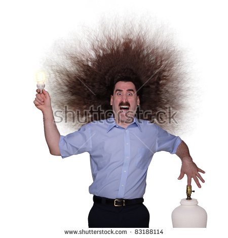 Electric Shock Stock Images, Royalty.