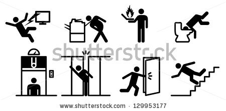 Man Moving Box Actions Postures Stick Stock.