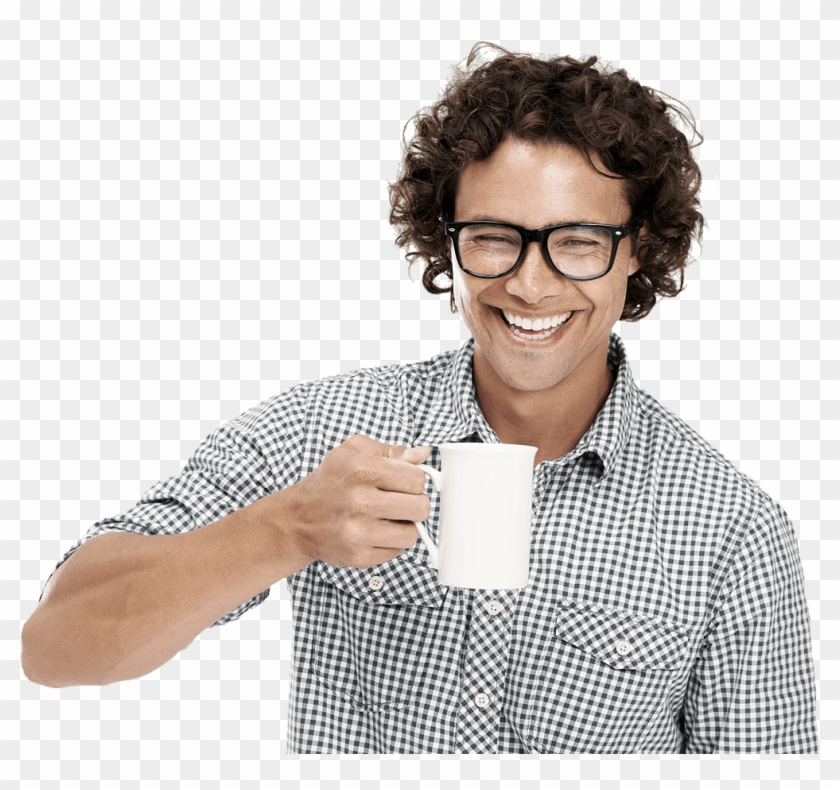 Man Drinking Coffee Transparent Background, HD Png Download.