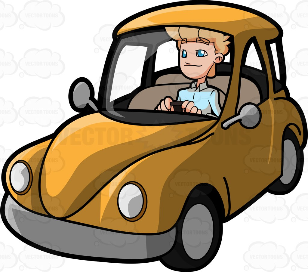 Man In A Car Clipart.