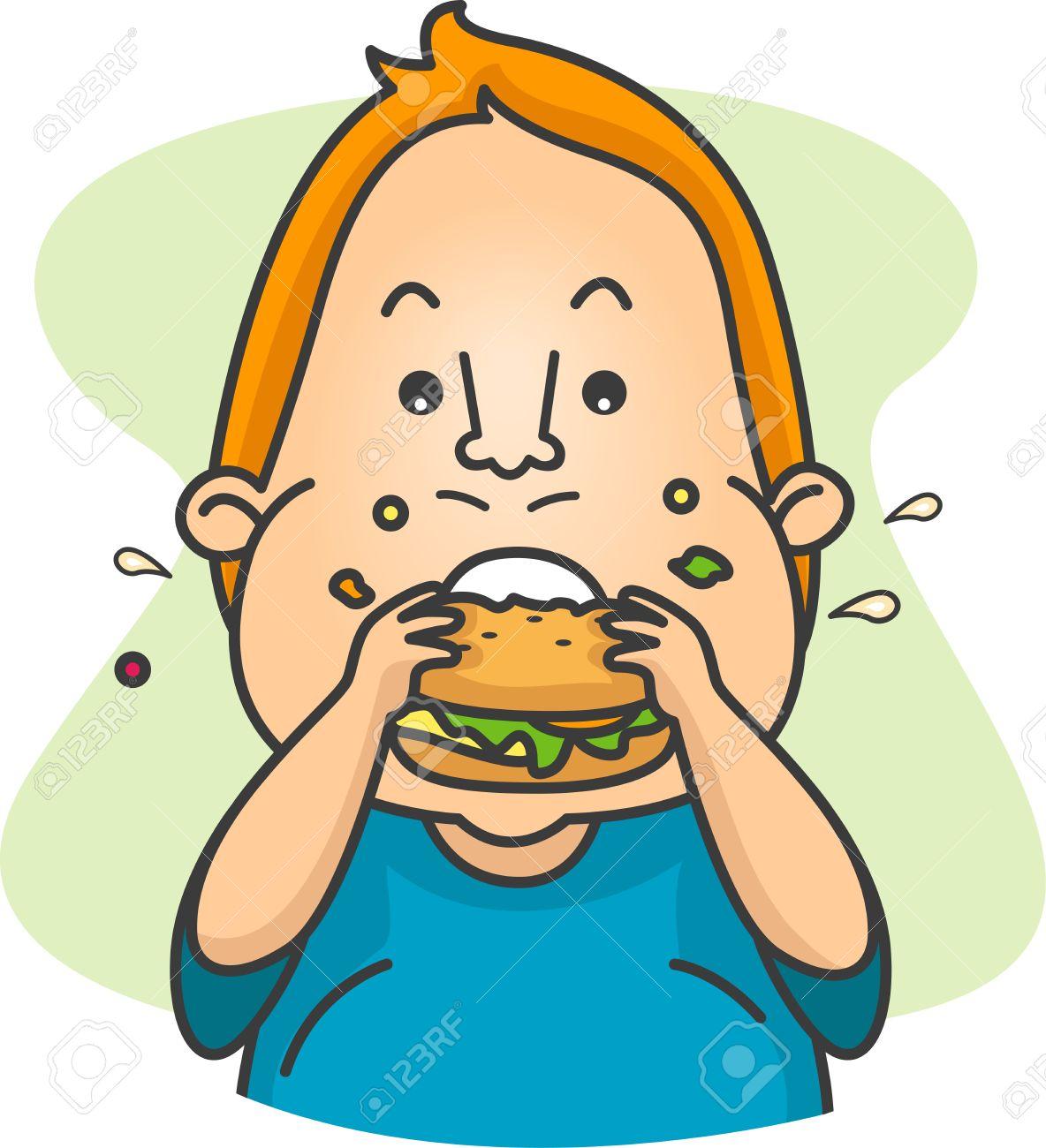 Similiar Guy Eating Cheeseburger Clip Art Keywords.
