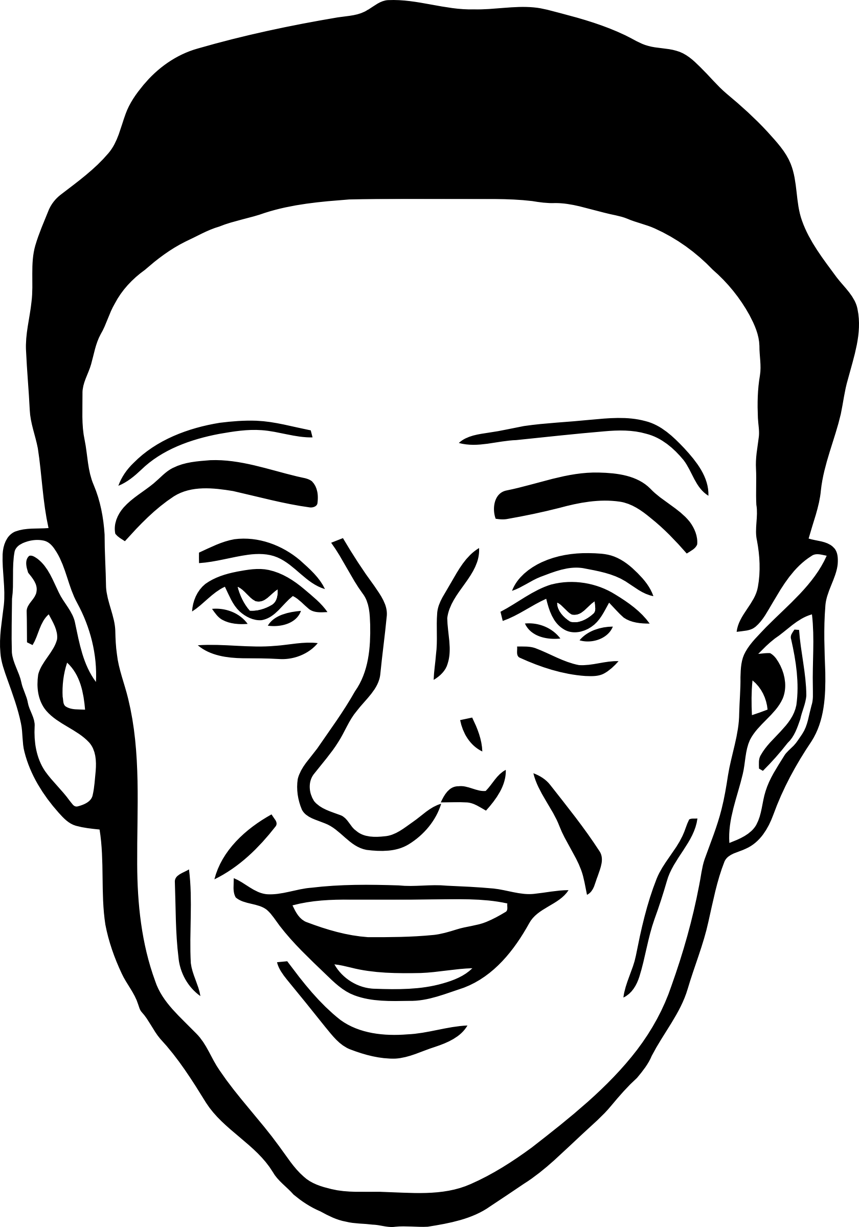 Man Face Clipart Black And White.