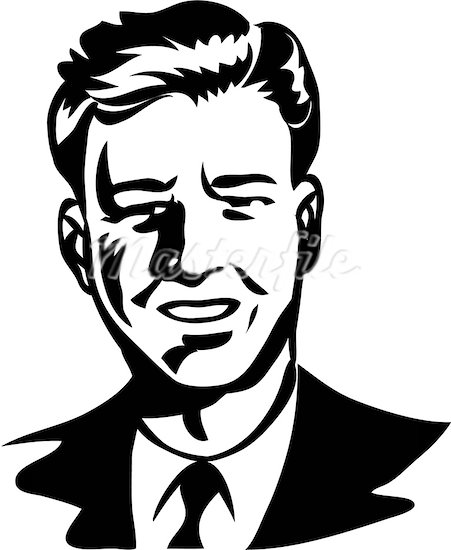 Free Man Face Clipart Black And White, Download Free Clip.