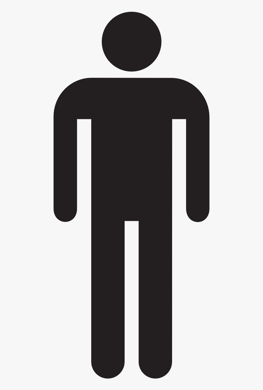 Male Man Stick Figure Symbol Png Image.
