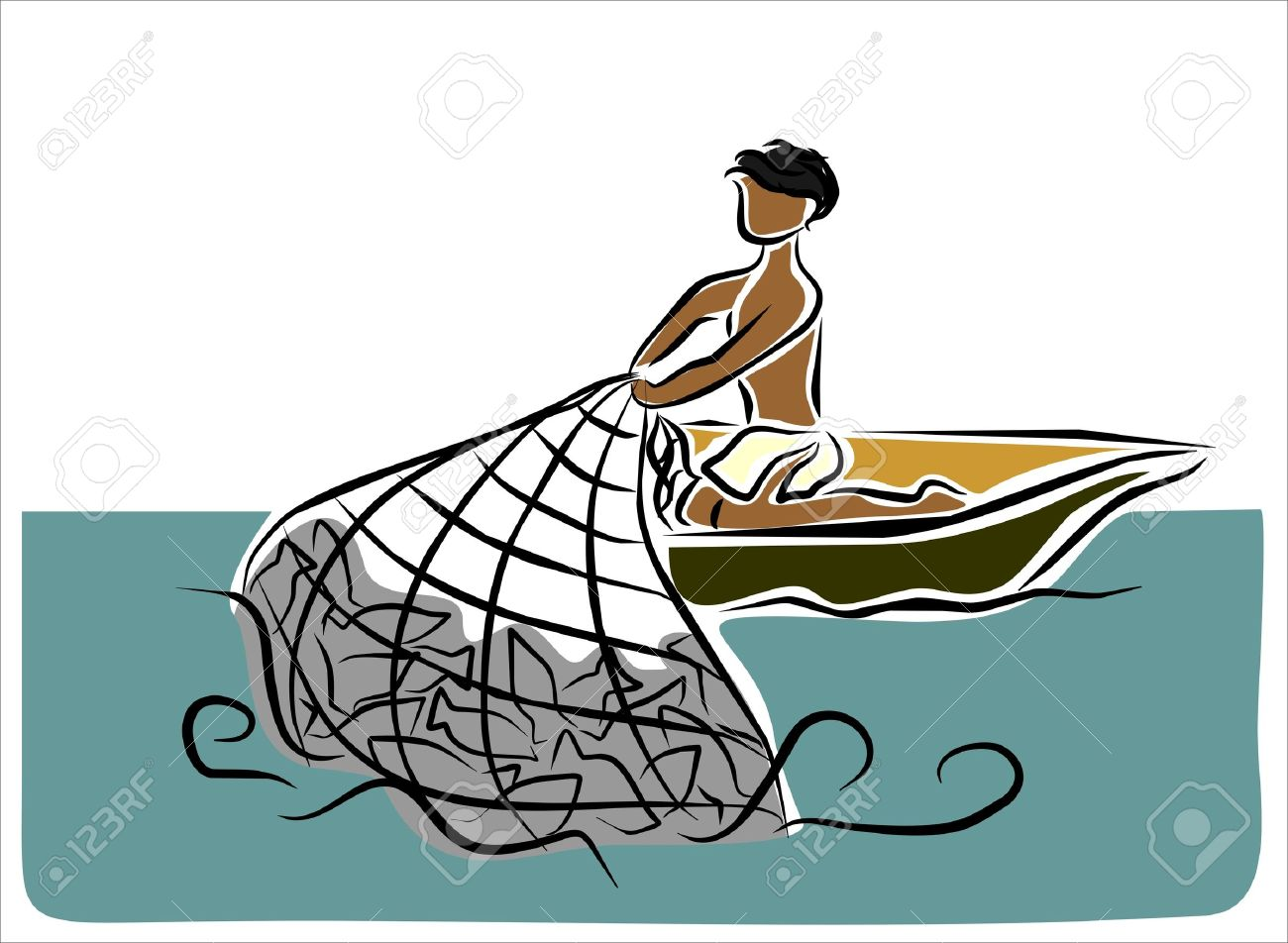 man fishing in boat clipart clipground