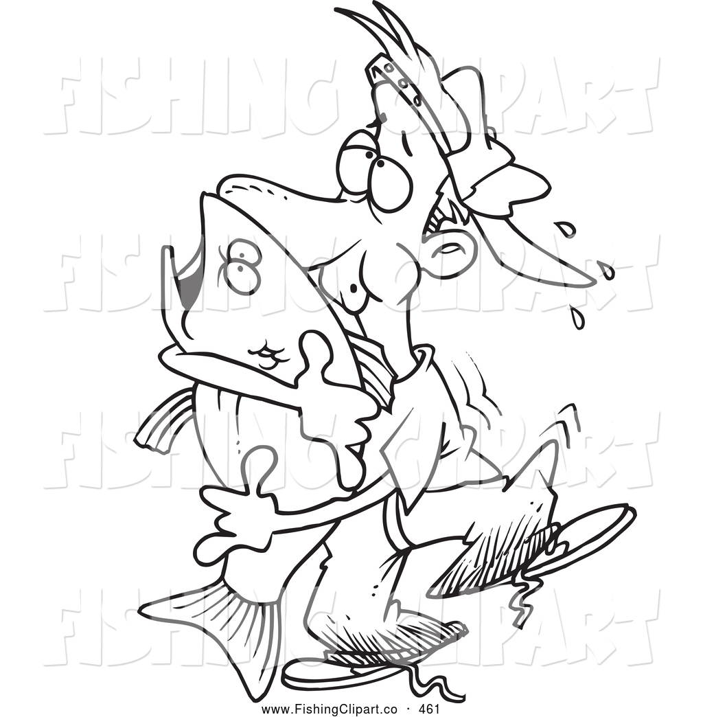 Royalty Free Stock Fishing Designs of Coloring Pages.