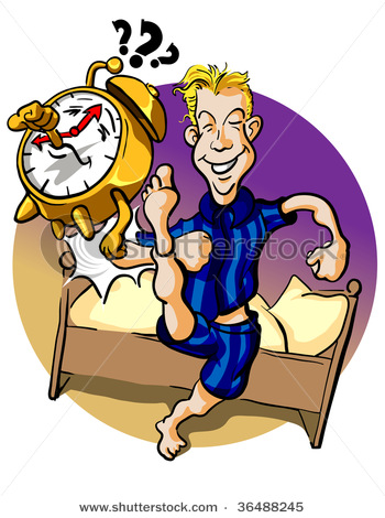 Man Getting Out Of Bed Clipart.