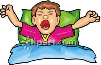 Getting Out Of Bed Clipart.