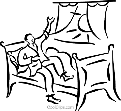 Clipart Getting Out Of Bed.