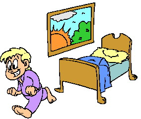 Waking Up From Bed Clipart.
